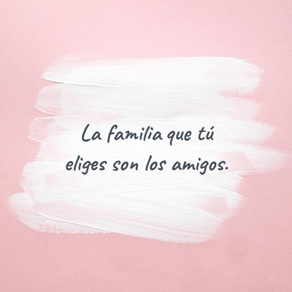 Frases de Amistad - La familia que tú eliges son los amigos.