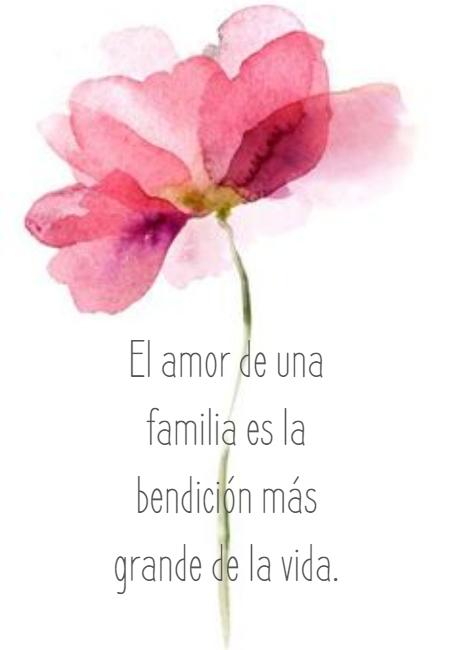 Frases de Amor - El amor de una familia es la bendición más grande de la vida.