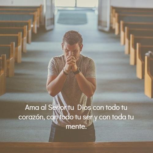 Frases sobre Religión - Ama al Señor tu Dios con todo tu corazón, con todo tu ser y con toda tu mente.