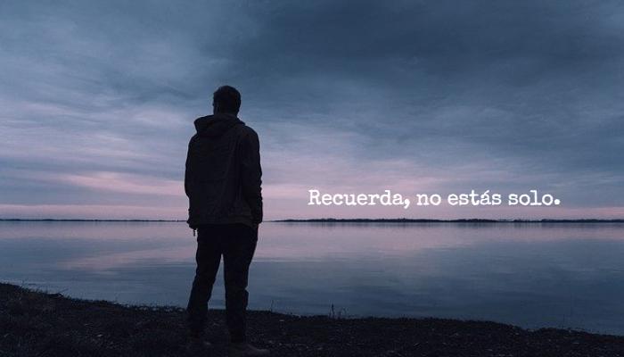 Frases sobre Pensamientos - Recuerda, no estás solo.