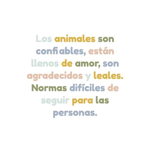Frases de Animales - Los animales son confiables, están llenos de amor, son agradecidos y leales. Normas difíciles de seguir para las personas.